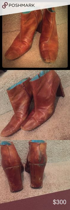 Vintage bootie DKNY Rustic DKNY VINTAGE ANKLE BOOTIE. the charm of these comfy booties is the vintage edge DKNY Shoes Ankle Boots & Booties