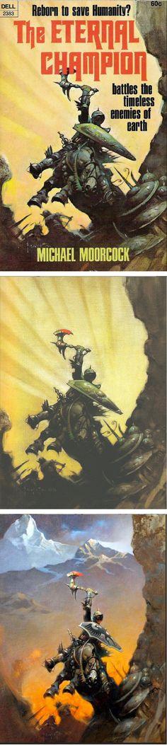FRANK FRAZETTA - The Eternal Champion by Michael Moorcock - 1970 Dell Books 2383 - print/cover by capnscomics.blogspot.com