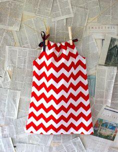 Red Chevron Summer Dress