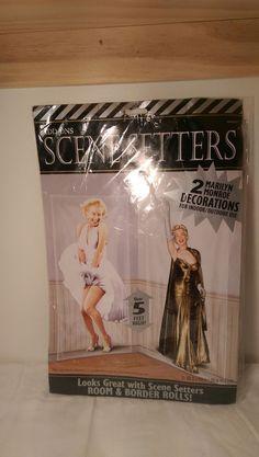 #MarilynMonroe Hollywood Party Scene Setter #DOORDecoration indoor Outdoor LOT OF 2 #AddOnScene #Any