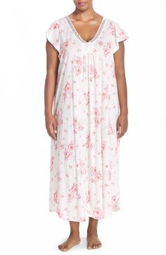 Carole Hochman Designs Floral Cotton Long Nightgown (Plus Size) 659384bdd