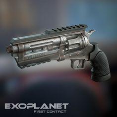 Revolver, Denis G Arma Steampunk, Steampunk Weapons, Sci Fi Weapons, Concept Weapons, Weapons Guns, Airsoft Guns, Jiu Jitsu Gear, Hand Cannon, Tac Gear