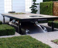An Underground Parking Driveway