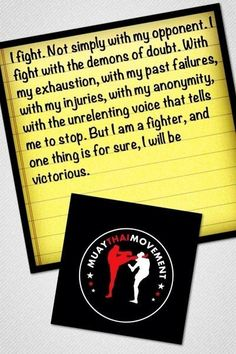 I will be victorious. Krav Maga Martial Arts 5795f0b45