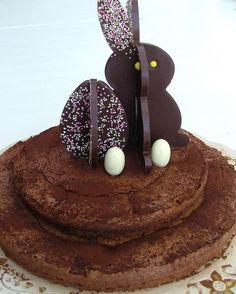 Deco gateau chocolat paques