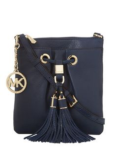MICHAEL MICHAEL KORS Middleton Drawstring Crossbody Bag, Navy