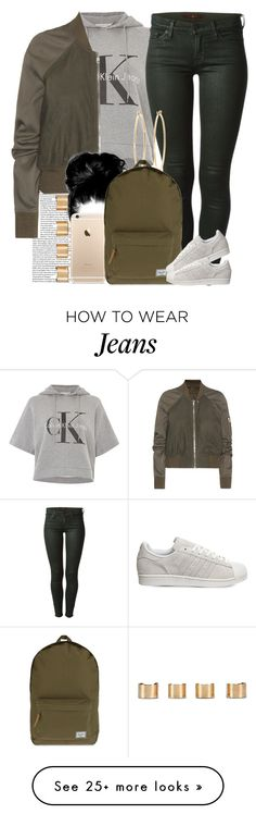"""It's been so cold I couldn't do anything "" by livelifefreelyy on Polyvore featuring Calvin Klein, 7 For All Mankind, Rick Owens, Brooks Brothers, Herschel Supply Co., adidas, Maison Margiela, women's clothing, women and female"