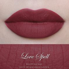 NEW FORMULA AS OF 3/23/16  Matte Attack Liquid Lipstick in Love Spell  A matte tomato red with orange undertones  Liquid to matte kiss proof &
