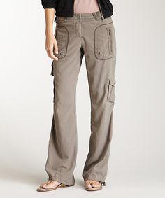 Look at this #zulilyfind! Da-Nang Latte Silk-Blend Cargo Pants by Da-Nang #zulilyfinds