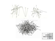Stainless steel - HeadPins and EyePins - 10 or 100 Stainless Steel Pins from latinashop1 on Etsy Studio