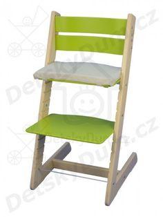 Jitro dětská rostoucí židle Klasik - Bukovo - světle zelená