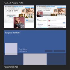 example of how Facebook template works