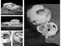 """Yihan LI, """"Architectural Timepiece."""" Model."""