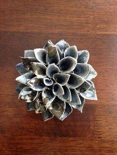 Ceramic flowers by Sara Hebble