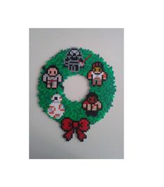 Star Wars The Force Awakens Christmas Wreath Hama Perler Beads  by FimoParadise