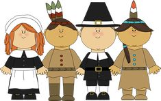 Pilgrims and Indians Clip Art - Pilgrims and Indians Image