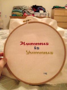 Hummus is yummus.