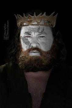 King Robert Baratheon | Game of Thrones War Paint by Hilary Heffron - Hilarious…