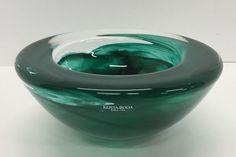 "KOSTA BODA Bowl Anna ERHNER ATOLL GREEN Large 7"""