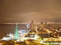 Guayaquil, Ecuador - another honeymoon destination. looks strangely similar to abu dhabi in this photo!