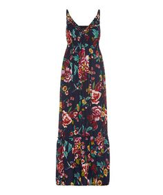 Take a look at this Iska: Black Floral Print Maxi Dres by ISKA on #zulily today!