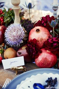 a table scape perfect for the season