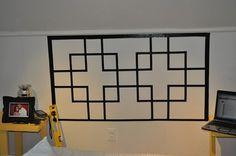 Monday's Make-it . . . { headboard created with tape } - Ada's Interior DesignAda's Interior Design