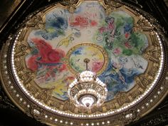 Detail of ceiling in Paris Opera House #Paris #France Photo by Carly Carson