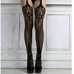 *!*Garter Illusion Tights*!* $12 ..BOGO Free! Sexy and classy...Netted tights made to look like waist garter belt connected to thigh highs. The upper thigh area is cut out. Very comfortable and good quality net material. Size is Small/Medium. Max size is 14/16..very stretchy material. The designs are on front and back of tights *Can be a lingerie item with a thong/panty underneath or can be worn with a shorter skirt for added flair. *New and unused Pants Leggings