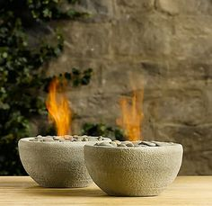 DIY Furniture Store KnockOffs - Do It Yourself Furniture Projects Inspired by Pottery Barn, Restoration Hardware, West Elm. Tutorials and Step by Step Instructions      Restoration Hardware DIY table top river rock fire bowls       http://diyjoy.com/diy-furniture-store-knockoffs