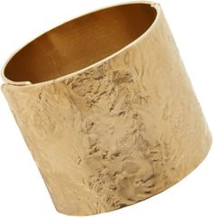 Givenchy Gold Pale Gold Wrinkledtexture Cuff.