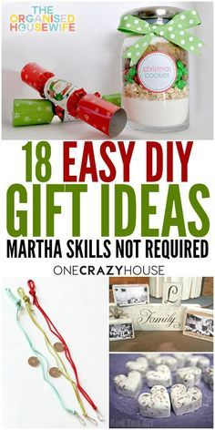 Store bought gifts can be expensive, even with Christmas sales. Plus we all know homemade gifts mean a little bit more. Here are some wonderful DIY gift ideas that are perfect for any family member or friend.