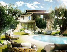 """Check out new work on my @Behance portfolio: """"Country House"""" http://on.be.net/1rjbGti"""