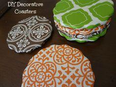 DIY Decorative Coasters via www.jmanandmillerbug.com