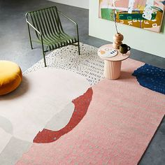 The play of pattern and negative space are the basis for the design with freehand dots & lines adding texture and interest. Vogue Home, Warehouse Design, Interior Styling, Interior Design, Living Vintage, Living Room Carpet, Textiles, Soft Furnishings, Room Inspiration