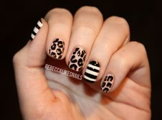 rebecca likes nails: animal print out of control