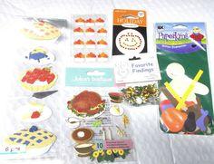 Fall Halloween Thanksgiving stickers lot Martha Stewart pies Jolees Ek Success  #EkSuccessMarthaStewart