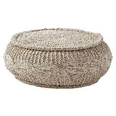 Round Knit Pouf | The Land of Nod