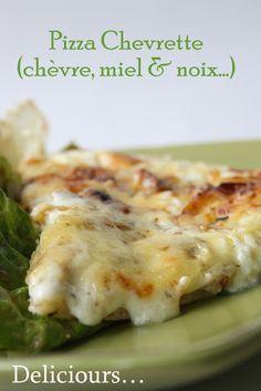 Pizza Chevrette (chèvre, miel & noix)