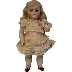 "5"" Antique Kestner 130 All Bisque Doll Sleep Eyes Two Strap Shoes Molded Socks - 5"" Antique Kestner 130 All Bisque Doll Sleep Eyes Two Strap Shoes Molded Socks"