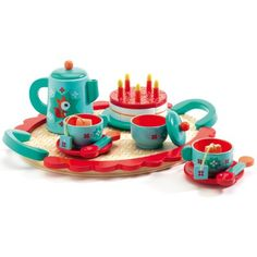 Service à thé en bois Le goûter de Renard  par Djeco