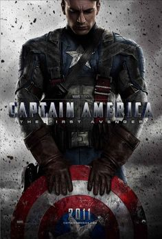 Captain America: The First Avenger , starring Chris Evans, Hugo Weaving, Samuel L. Jackson, Hayley Atwell. After being deemed unfit for military service, Steve Rogers volunteers for a top secret research project that turns him into Captain America, a superhero dedicated to defending USA ideals. #Action #Adventure #Sci-Fi