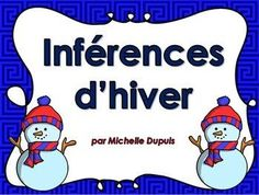 French School, French Class, French Lessons, French Teaching Resources, Teacher Resources, Teaching French Immersion, Daily 5 Reading, Snowmen At Night, Daycare Themes