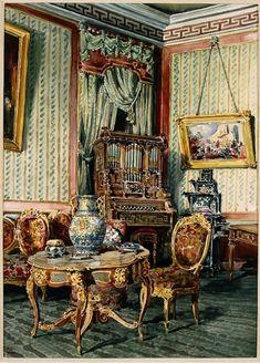Sala da Música no Andar Nobre, Palácio Nacional da Ajuda, Lisboa  Enrique Casanova,  1888-1889 fot: Henrique Ruas PNA/ADF