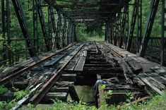 At one time a double tracked railroad bridge.