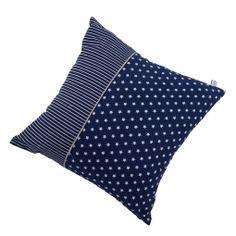 LITTLE DUTCH - Kissen blau mit weißen Sternen & Streifen