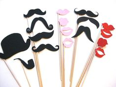 Photo Booth Props Set  Ladies and Gentlemen by TheManicMoose, $25.00