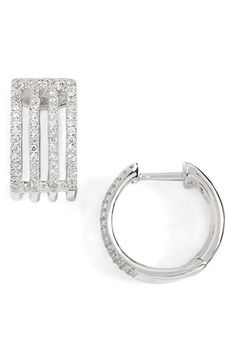 Bony Levy Diamond Small Hoop Earrings (Nordstrom Exclusive)