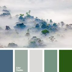 Grey with hunter green - we love this interesting Green Color Palette. Labor Junction / Home Improvement / Paint / / www. Green Colour Palette, Green Colors, Colours, Colour Schemes, Color Combos, Color Concept, Foto Picture, Design Seeds, Color Stories