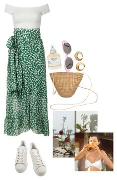 """summer staples"" by rsussher ❤ liked on Polyvore featuring adidas, WithChic, Ganni, Maison Margiela and Yves Saint Laurent"